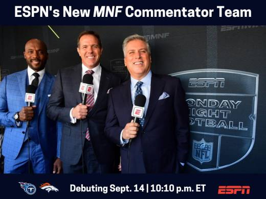 Steve Levy, Brian Griese And Louis Riddick Named ESPN's New 'Monday Night Football' Commentator Team